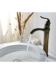 Traditional Style  Antique Bronze Brass Single Hole Single Handle Bathroom Sink Faucet