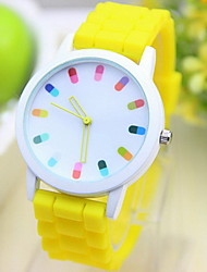 Women's Funny Capsule Scale Candy Jelly Band Quartz Wristwatch (Assorted Colors) Cool Watches Unique Watches