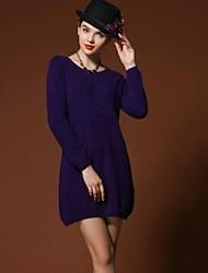 puros vestidos de lã vison das mulheres