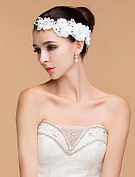 Women's Lace / Rhinestone Headpiece-Wedding Flowers