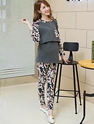 Maternity's Fashion Leisure Joining Together Long Sleeve Warm Clothing Set