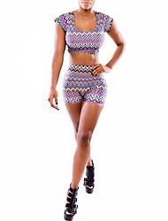 женская новая горячая мода темперамент печати костюм (рубашка&брюки)