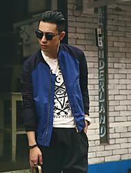 gola jaqueta de correspondência de cores a moda masculina