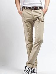 Men's Straight  Leisure Small Cotton Slacks Chinos Pants