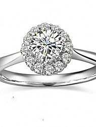 I FREE SILVER®Women's S990 Sterling Silver Zircon Ring 1 pc