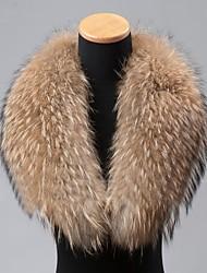 moda vera pelliccia di procione genuino dell'involucro della sciarpa del collare delle donne