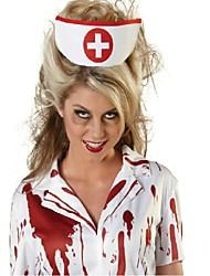 Cosplay Costumes / Party Costume Nurse Festival/Holiday Halloween Costumes White Print Dress / Headband Halloween / Carnival FemaleCotton