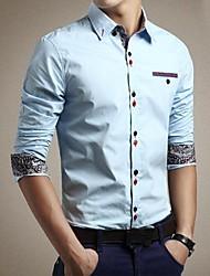 Men's Double Button Long Sleeve Shirt