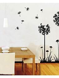 zooyoo® venta caliente bricolaje dientes de león flores de limón pared removible etiqueta pegatinas pared pegatinas decoración de pared de