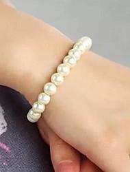 simples moda trecho pulseira de pérolas das mulheres
