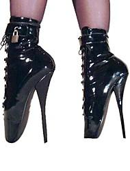 Mujer-Tacón Stiletto-Tacones / Botas a la ModaFiesta y Noche-Semicuero-Negro / Blanco