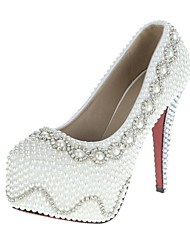 Feminino Wedding Shoes Saltos/Plataforma/Arrendondado Saltos Casamento Branco