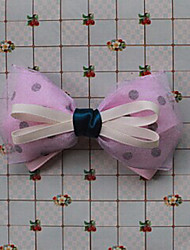 Purple Organza 11cm Satin Bow Sweet Lolita Barrette