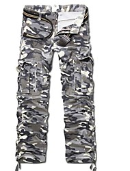 Men's Good Multi Pockets Camouflage Uniforms Cotton Cargo Pants