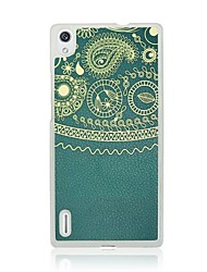 Totem  Leather Vein Pattern PC Hard Case for Huawei P7