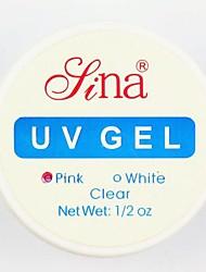 Pink Nail Art UV Gel Top Coat Base Gel Builder Nail Polish for Acrylic UV Nail Tips Art