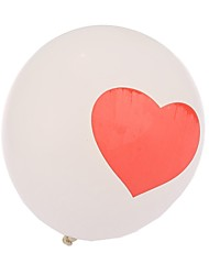 coeur lourd bouleversé ballons ronds - ensemble de 24