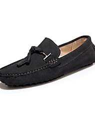 Men's Spring / Summer / Fall / Winter Comfort Leather Office & Career / Casual Flat Heel Yellow / Gray / Navy