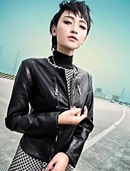 tendencia de las mujeres de Corea del abrigo corto pu