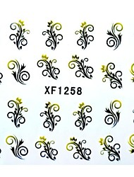 Half Cover Flower Style Nail Stickers XF1258