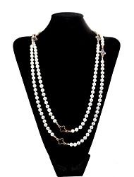 lureme®korean стиль черные клевера жемчужное ожерелье