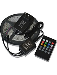 5M 300x3528 SMD Music Light Strips RGB Flexible LED Light Strips +  20key Music Remote Control + 2A Power  (AC110-240V)