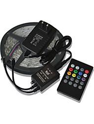 5m 300x3528 SMD Musik Lichtleisten RGB flexible LED-Lichtleisten + 20key Musik Fernbedienung + 2a Leistung (AC110-240V)