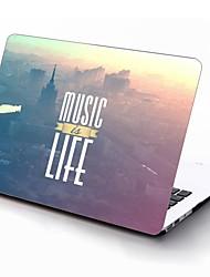 la música es la vida de diseño de todo el cuerpo caja de plástico de protección para 11 pulgadas / 13 pulgadas El nuevo iPad