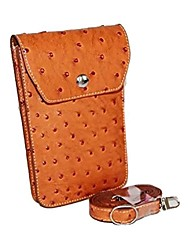 Dengpin® Protective Leather Camera Case Bag Cover Ostrich Pattern Charging for Casio TR100 TR150 TR200 TR350 TR350S