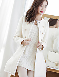 Women's Coats & Jackets , Wool Blend Casual Zeagoo