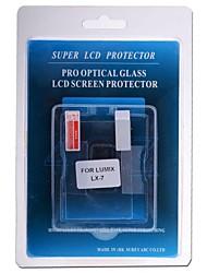 protezione dello schermo lcd professionale vetro ottico speciale per lumix lx-7 macchina fotografica del dslr
