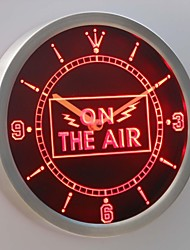 nc0263 On the Air Neon Sign LED Wall Clock