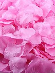 rosa oscuro pétalos de rosa decoración de la mesa (juego de 100 pétalos)