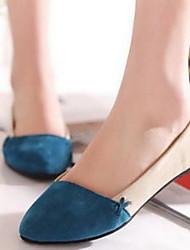 Замша Женские плоский каблук Комфорт Квартиры обувь (больше цветов)