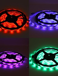 Waterproof 5M 150x5050 SMD RGB Light LED Strip Lamp with 24-Button Remote Controller Set (12V)
