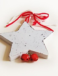 Christmas Hanging Decoratives White Pentagram  Shape 1 PC MDF Materiels for Christmas Decorations
