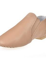джазовых женские сплит единственными низком каблуке кожи свиньи танцевальной обуви
