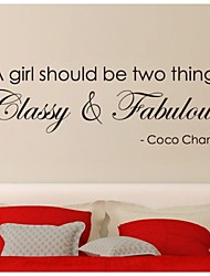 JiuBai™ Girl Inspiration Quote Wall Sticker Wall Decal