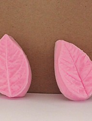Folha fondant bolo de chocolate barro de resina molde de doces silicone 3d, L5M * w3cm * h1cm