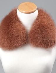 unisex trendige Licht Kamel echte echte Fuchspelzkragen Schal-Verpackungs-