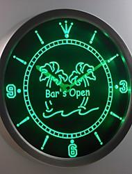 aperto palma segno al neon led orologio da parete di nc0371 bar