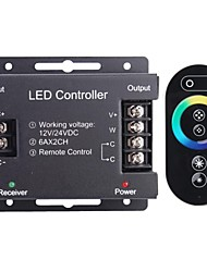6A 2-Channel Wireless Smart RGB LED Controller with Touch Remote Controller for RGB LED Strip Lamp(12~24V)
