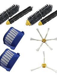 2 Aero Vac Filters & Side Brushes & 2 Bristle Brushes & 2 Flexible Beater Brushes Kit for iRobot Roomba 600 Series
