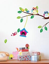 zooyoo® jogo pássaro removível na árvore de adesivos de parede adesivos de parede de venda quente para a decoração da casa