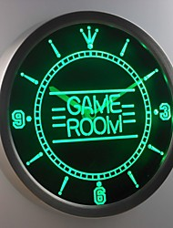 nc0310 Game Room Kid Man Cave Neon Sign LED Wall Clock