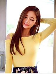 women'srendertthe colarinho ombro orvalho tornar uma palavra tshirts