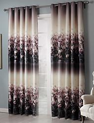 Verdunkelungs künstlerischen Blütentrauben Vorhang (zwei Tafeln)