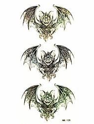 Waterproof Bat Temporary Tattoo Sticker Tattoos Sample Mold for Body Art(18.5cm*8.5cm)