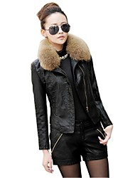 Women's Fashion Korean Wool Collar Short Jacket  Coat