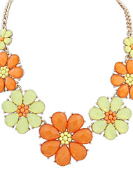Women's Exquisite Flowers Cluster Clearance Statement Necklace